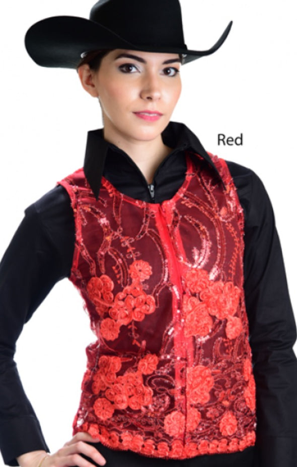 Molly Show Vest - Red - Sparkling Cowgirl
