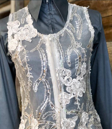 Molly Show Vest - Grey - Sparkling Cowgirl