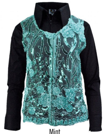 Molly Show Vest - Mint - Sparkling Cowgirl
