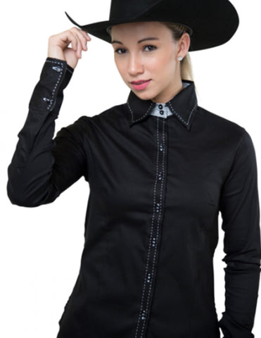 Buck Stitch Show Shirt - Black