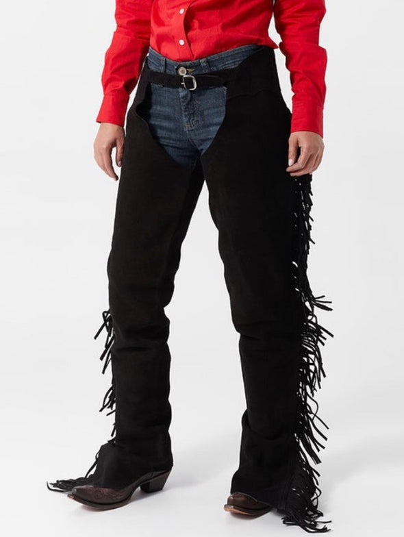 Cowhide Suede Leather Chaps - Sparkling Cowgirl