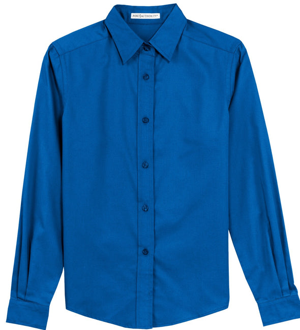 Button Up Shirt - Strong Blue - Sparkling Cowgirl