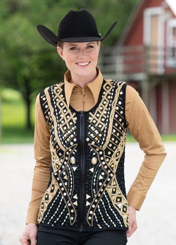 Gold and black vest - Sparkling Cowgirl