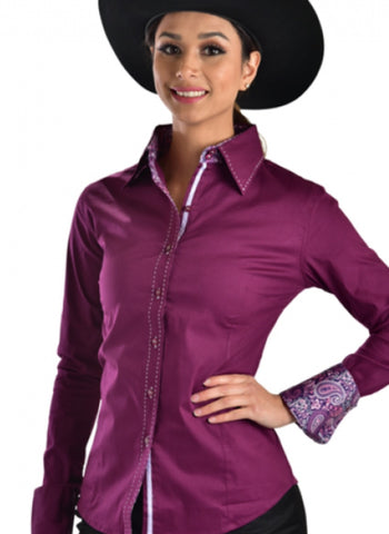 Buck Stitch Show Shirt - Plum