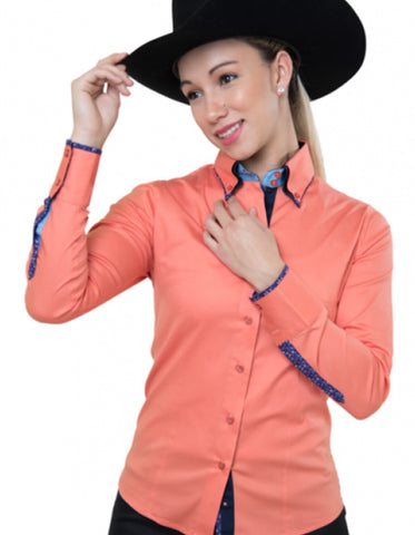 Buck Stitch Show Shirt - Peach