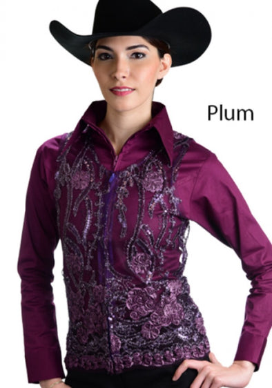 Molly Show Vest - Plum - Sparkling Cowgirl