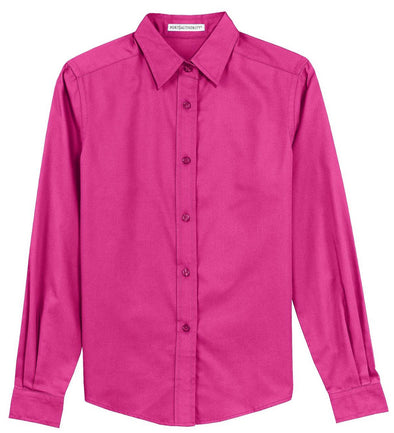 Button Up Shirt - Hot Pink - Sparkling Cowgirl