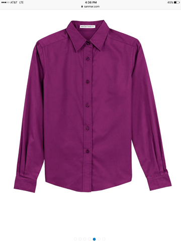 Button Up Shirt - Berry