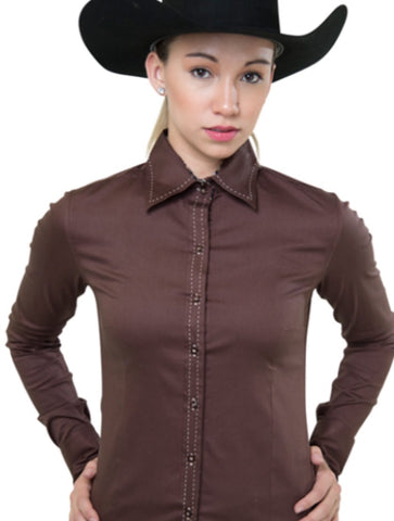 Buck Stitch Show Shirt - Chocolate