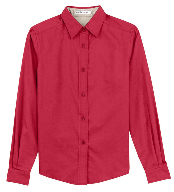 Button Up Shirt - Red - Sparkling Cowgirl