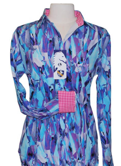 Shades of Purple Western Shirt - Sparkling Cowgirl
