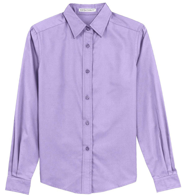 Button Up Shirt - Lavender - Sparkling Cowgirl