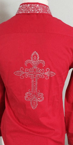 Western Cross Rhinestone Shirt