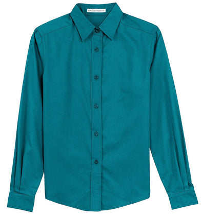 Button Up Shirt - Teal - Sparkling Cowgirl