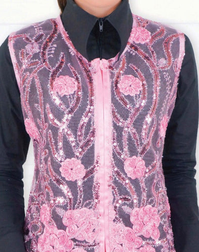 Molly Show Vest - Pink - Sparkling Cowgirl