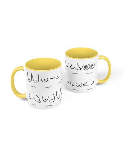 Boobs Descriptions Mug - crudelydrawn