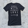 black made with love tee back