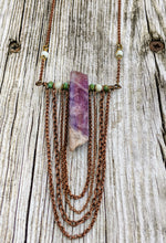 Load image into Gallery viewer, Amethyst Chain Drape Necklace - Minxes' Trinkets