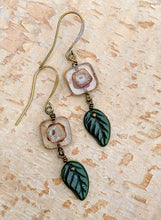 Load image into Gallery viewer, Crisp Mornings - Czech Glass Leaf Earrings - Minxes' Trinkets