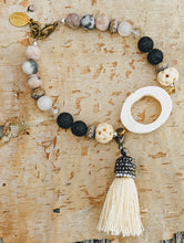 Load image into Gallery viewer, Boho Bone Slice Gemstone Bracelet - Minxes' Trinkets