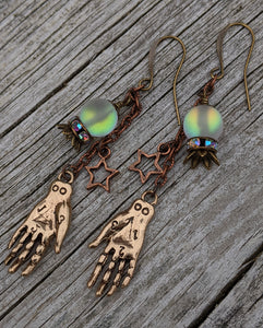 Palmistry and Fortune Teller Crystal Ball Earrings - Minxes' Trinkets