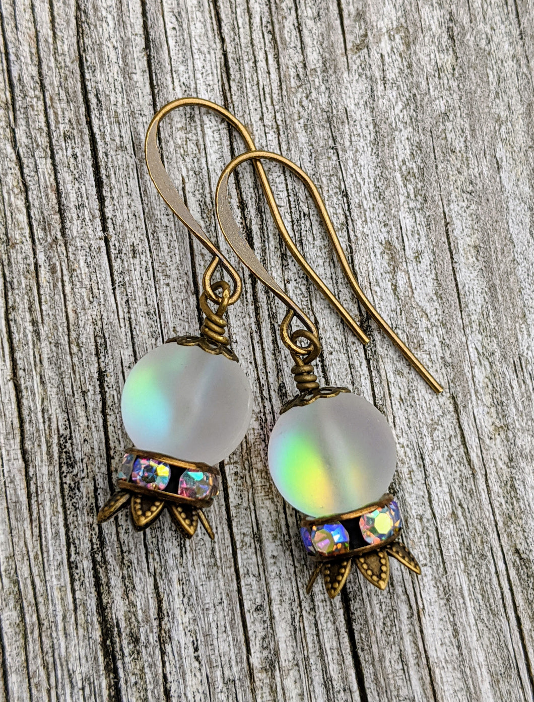 Crystal Ball Earrings - The Future is Murky - Minxes' Trinkets