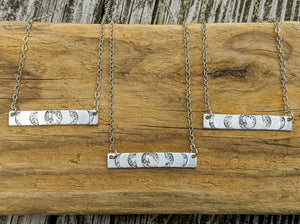 "Moon Phase Bar Necklace - 20-21"" - Minxes' Trinkets"