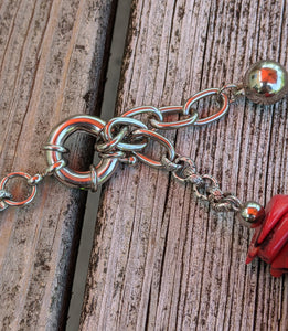 CUSTOM for Jerry - coral kuchi necklace - Minxes' Trinkets