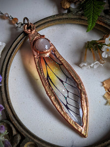 Relic Fairy Wing Rosary Necklace - Resin and Copper Electroformed 2