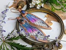 Load image into Gallery viewer, Relic Fairy Wing Earrings - Resin and Copper Electroformed 1