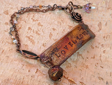 Load image into Gallery viewer, Wrist Reminder Copper Electroformed Bracelet - LOVE IS LOVE