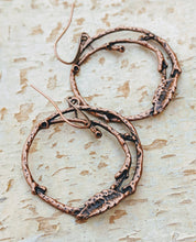 Load image into Gallery viewer, Copper Branch Hoop Earrings