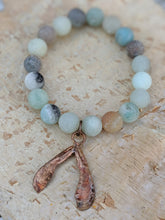 Load image into Gallery viewer, Amazonite Bracelet with Samara Seed