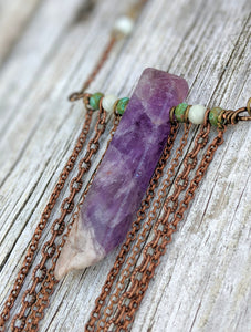 Amethyst Chain Drape Necklace