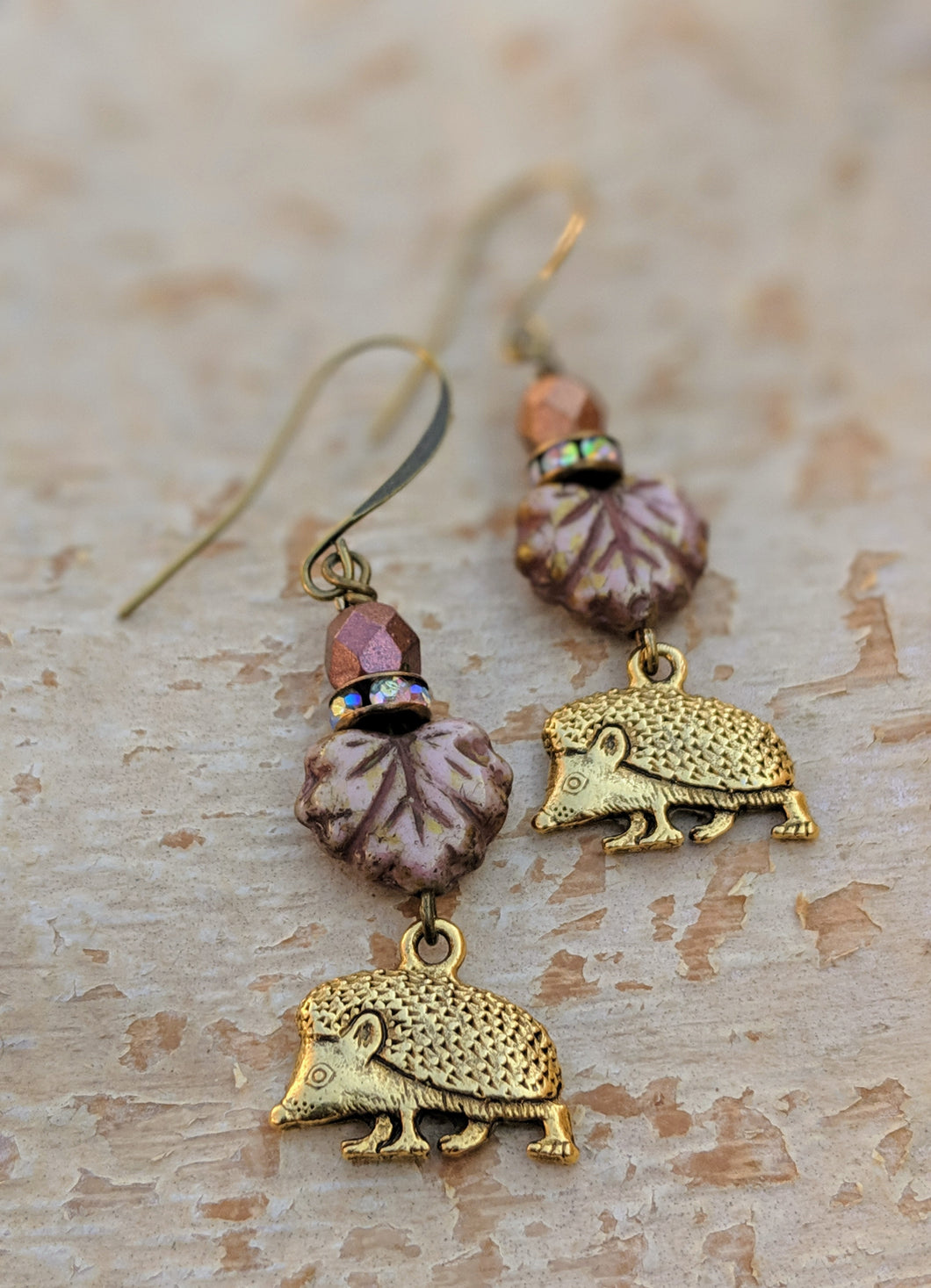 Hedgehog earrings - Bracken