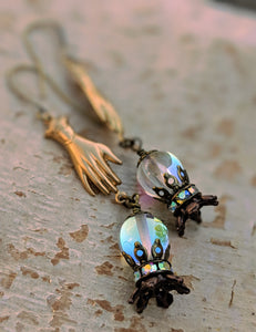 Fortune Teller Crystal Ball Earrings - Future is Clear