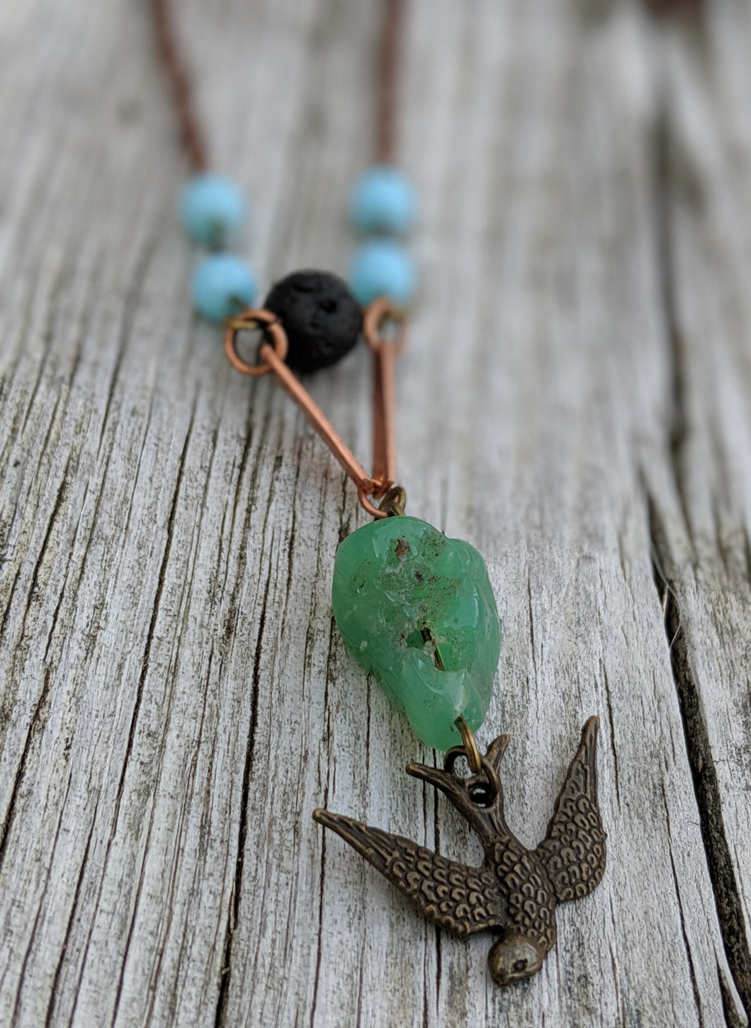 Earth, Wind, and Fire Swallow Necklace - Minxes' Trinkets