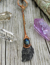 Load image into Gallery viewer, Copper Electroformed Witch Broom Besom 9 - Minxes' Trinkets