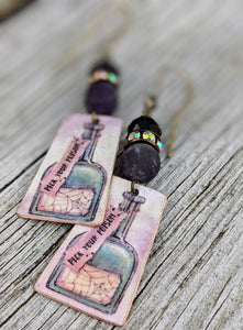 Handmade Vintage Halloween Earrings - Pick Your Poison 2 - Minxes' Trinkets