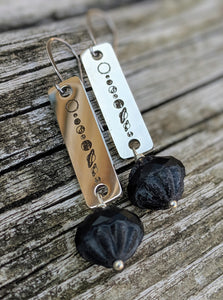 Planet Earrings - Dark Planet - Minxes' Trinkets