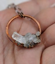 Load image into Gallery viewer, Electroformed Icy Quartz Cluster Necklace - II - Minxes' Trinkets