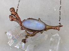 Load image into Gallery viewer, Electroformed Icy Winter Branch with Moonstone - Minxes' Trinkets