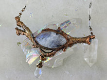Load image into Gallery viewer, Electroformed Icy Winter Branch with Tourmalated Moonstone - Minxes' Trinkets