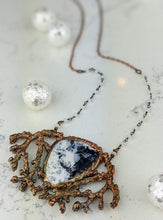 Load image into Gallery viewer, Electroformed Winter Branches with Dendritic Opal - 3 - Minxes' Trinkets
