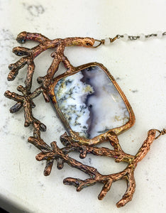 Electroformed Winter Branches with Dendritic Opal - 5 - Minxes' Trinkets