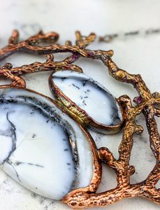 Electroformed Winter Branches with Dendritic Opal - 6 - Minxes' Trinkets