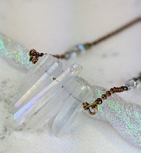 Load image into Gallery viewer, Electroformed Aura Quartz Icicle Necklace - Minxes' Trinkets