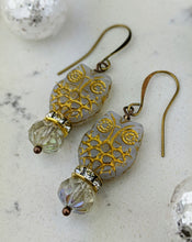 Load image into Gallery viewer, Owl Earrings - Winter White - Minxes' Trinkets