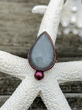 Load image into Gallery viewer, Size 6 Grey Moonstone Copper Electroformed Ring - Minxes' Trinkets