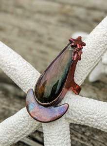 Size 4 Purple Labradorite Copper Electroformed Ring - Minxes' Trinkets